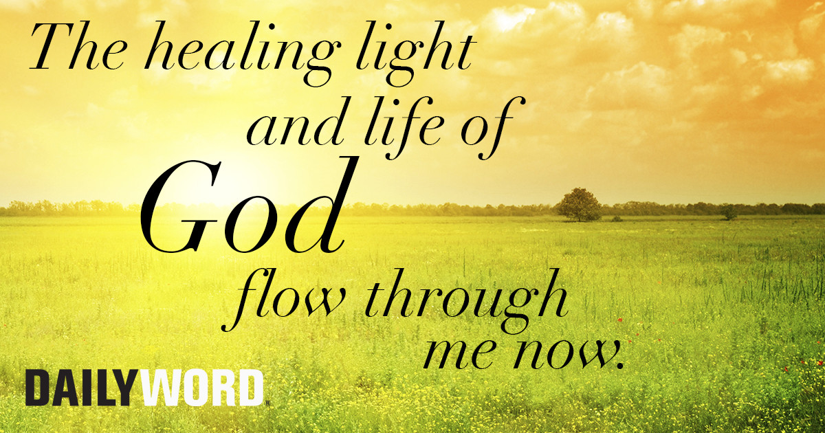 The healing light and life of God flow through me now