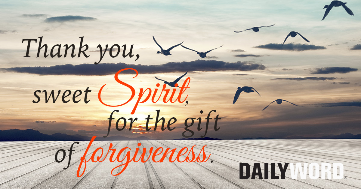 Thank you sweet Spirit for the gift of forgiveness