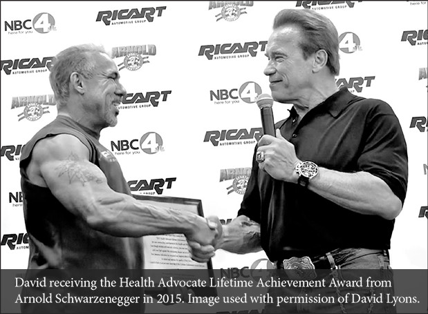 David Lyons and Arnold Schwarzenegger
