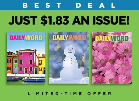 daily word subscription savings, god's daily words, gods spiritual quotes