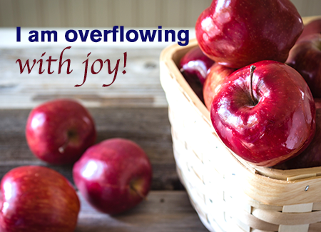 I am overflowing with joy!
