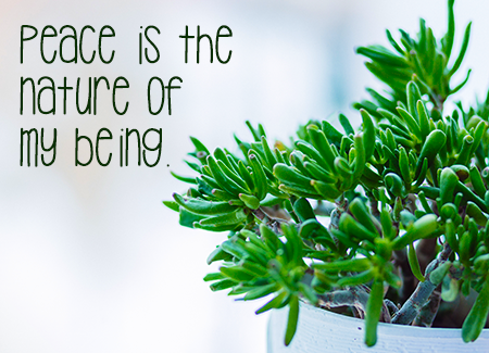 Peace is the nature of my being.