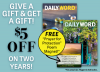 Give a gift and get a gift! $5 off on two years!