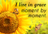 I live in grace moment by moment.